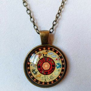 Signs of the Zodiac Cabochon Necklace